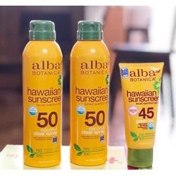 Kem chống nắng Alba Botanica Green tea  | Body