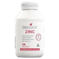 Viên uống bổ sung kẽm cho trẻ Bio Island Zinc 120 viên  | Thuốc bổ