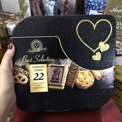 Bánh qui phủ socola hảo hạng của Đức Best Selection, hộp 1 kí  | Các loại bánh kẹo, socola