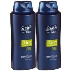 Dầu tắm gội xả Suave Professionals Men 3 in 1 828ml | Body