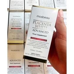 Viên uống TRẮNG DA NGỪA NÁM Mosbeau Placenta White Advanced 120 viên | Da mặt