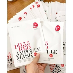 Mặt nạ giấy So'natural PH5.5 Red Ampoule Mask      | Da mặt