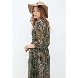 Đầm Floral Print Midi Dress