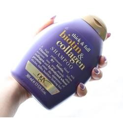 Dầu gội làm dày và dài tóc OGX Thick and Full Biotin and Collagen Shampoo, 385ml