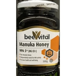 Mật ong bee vital manuka honey, NPA 5+, MGO 83 250g