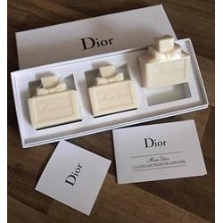 Set 3 bánh xà bông Miss Dior silky soap