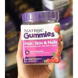 Kẹo dẻo Natrol Hair, Skin & Nails Gummies hũ 90 viên