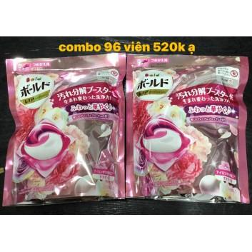 combo 6 túi viên giặt (96 viên) Bold Nhật Bản
