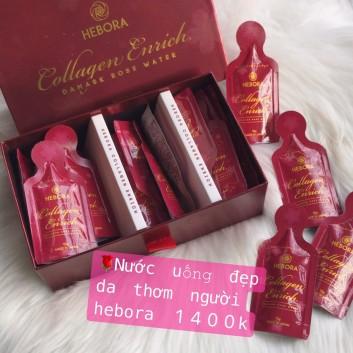 Tinh chất hoa hồng hebora Collagen Enrich 28 gói