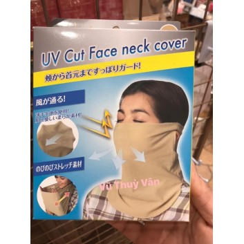 Khẩu trang che nắng, bụi UV CUT cho mặt và cổ hàng chuẩn nội địa Nhật