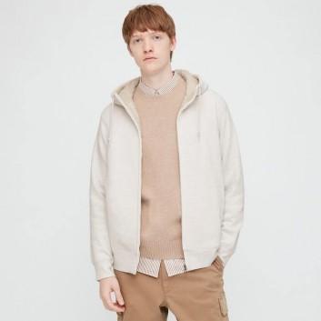 Áo khoác nỉ lót lông cừu nam Uni