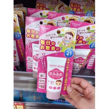 Kem chống nắng Wakodo baby UV care spf21 PA++