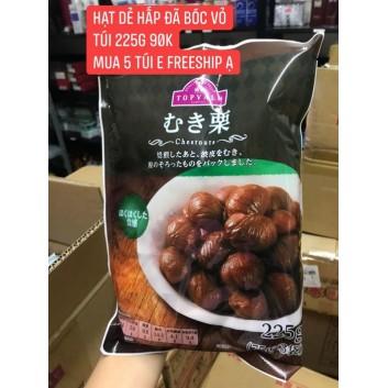 Hạt dẻ hấp đã bóc vỏ 225 gram